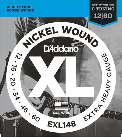 D`ADDARIO EXL148 NICKEL WOUND EXTRA-HEAVY 12-60
