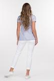 Блузка для беременных и кормящих 09585 голубой