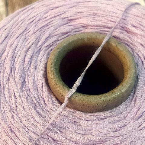 Хлопок 100% шнурок CASA DELL FILATO сиренево-розовый