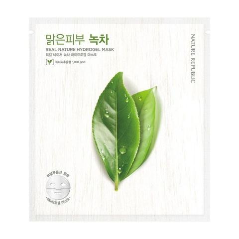 Nature Republic Real Nature Green Tea Hydrogel Mask маска гидрогелевая с экстрактом зеленого чая