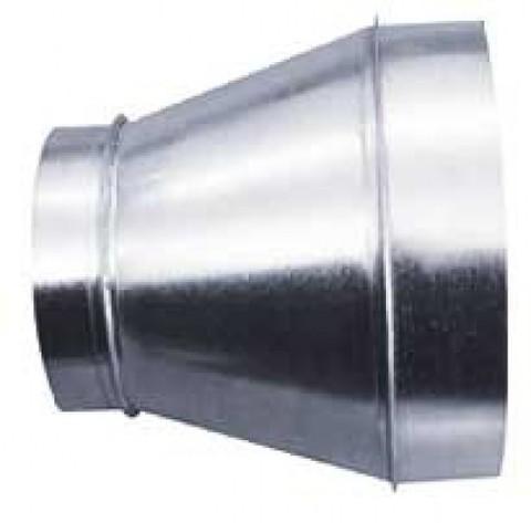 Переход 125х250 оцинкованная сталь