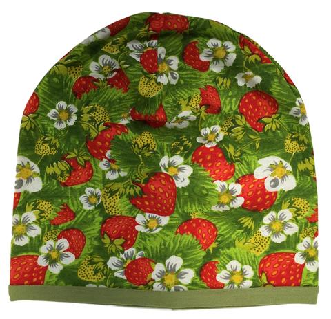 Детская шапочка бини с принтом Цветочки Ягодки