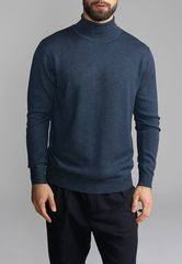 Джемпер мужской G123-DA72 синий меланж