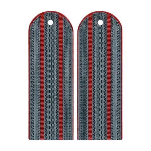Погоны темно-серые МВД на китель с 2 красными просветами