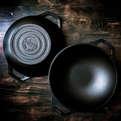 Сковорода ВОК-МИНИ чугунная круглая  с двумя ручками, артикул L6MW