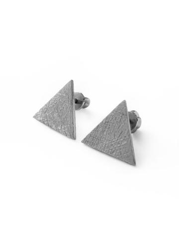 Серебряные серьги сатиновые пусеты