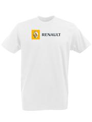 Футболка с принтом Рено (Renault) белая 0001
