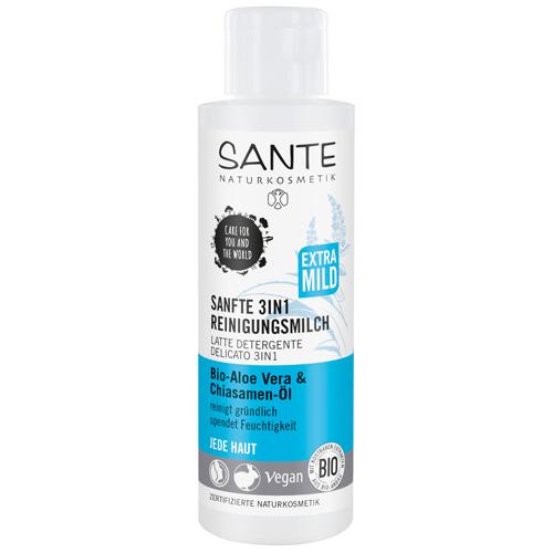 SANTE Очищающее молочко 3 в 1 для любого типа кожи с Био- Алоэ и маслом семян Чиа