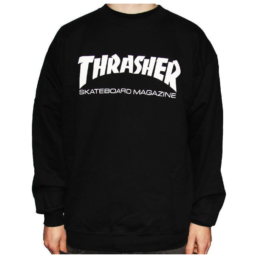 Толстовка (свитшот) THRASHER Skate Mag Crew (Black)