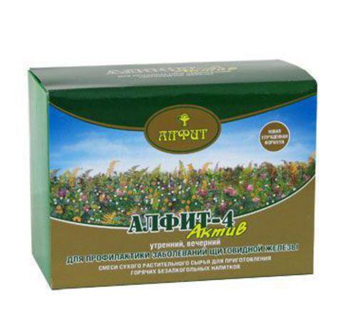 Чай Алфит-Актив № 4 щитовидная железа, 60 бр. (Гален)