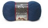 Пряжа Nako Estiva 6955 темно-синий