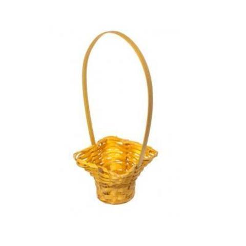 Корзина плетеная, 17х15,5х8,5х32см, желтый
