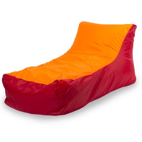 Пуффбери Внешний чехол Кресло-мешок кушетка  70x130x70, Оксфорд Красный и оранжевый