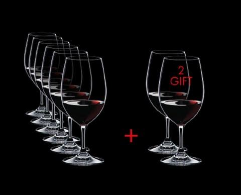 Набор из 8-и бокалов для вина Magnum Pay 6 Get 8 530 мл, артикул 7408/90. Серия Ouverture