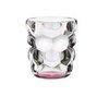 BUBBLES - Набор стаканов 2 шт. для воды с розовым донышком 330 мл бессвинцовый хрусталь