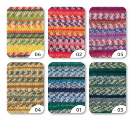 Gruendl Eco Socks Life Color 06