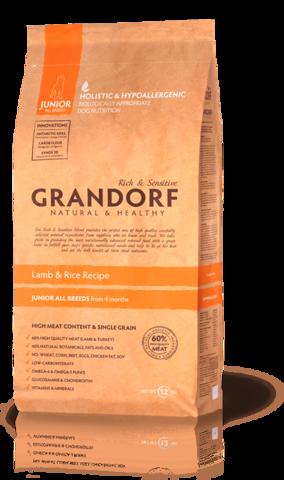 Grandorf Dog Lamb&Rice JUNIOR сухой корм для щенков (ягнёнок с рисом) 1 кг
