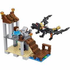 Конструктор Майнкрафт 33161  Нападение дракона 248д
