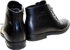 Кожаные мужские ботинки зимние Ikoc 3640-1 Black Leather.