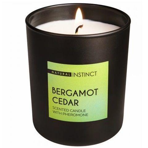 Ароматическая свеча с феромонами Natural Instinct  Кедр и бергамот  - 180 гр.