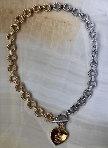 Колье Латри, позолота и серебряный цвет