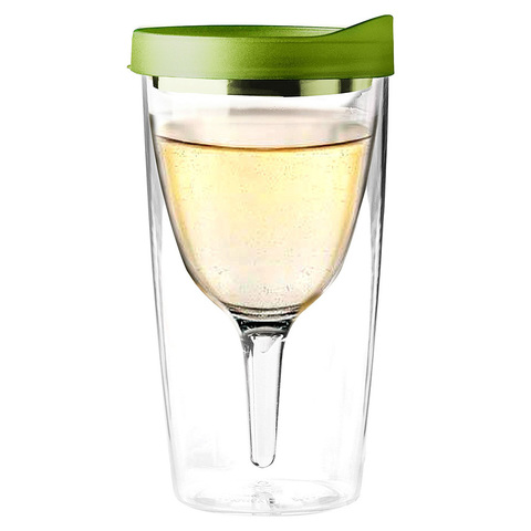 Бокал Asobu Vino 2 go (0,3 литра), зеленый