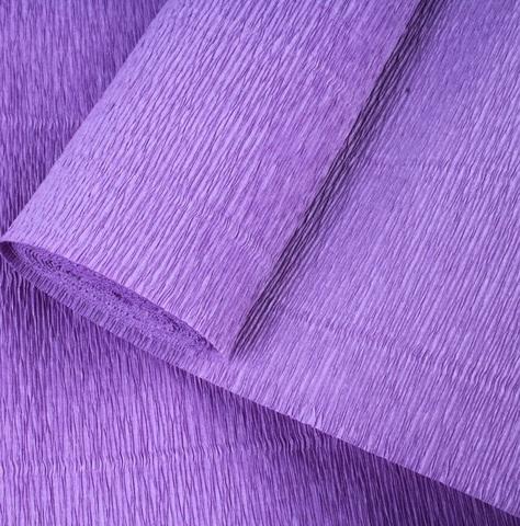 Бумага гофрированная, цвет 17Е/2 ярко-фиолетовый, 180г, 50х250 см, Cartotecnica Rossi (Италия)