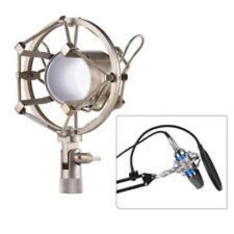 Держатель паук для микрофона металлический, Silver