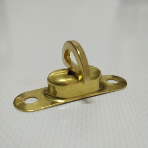 Скоба малая поворотная 22,5 х 13,5 мм, латунь