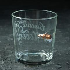 Стакан непробиваемый с пулей, для виски «Спасибо», 250 мл, фото 1