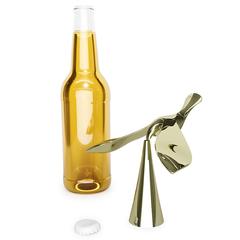 Открыватель для бутылок на подставке Tipsy латунь, фото 5