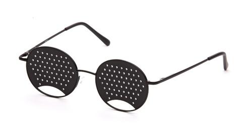 Очки-тренажёры перфорационные детские чёрные