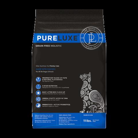 PureLuxe Сухой корм для привередливых кошек с курицей