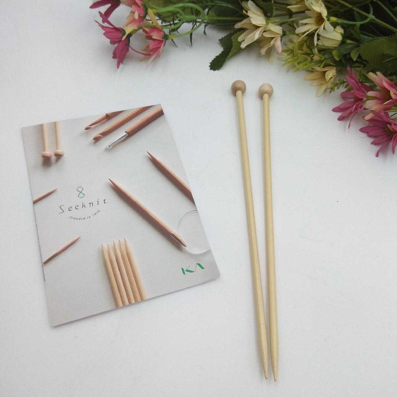 Прямые бамбуковые спицы Seeknit 23см