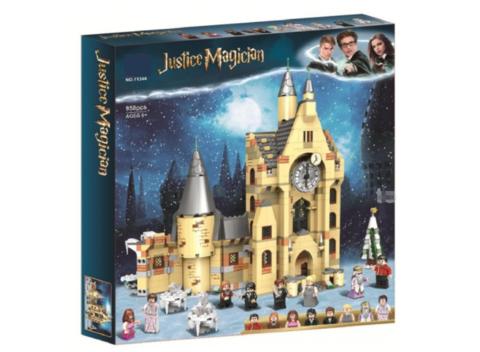 Конструктор Justice Magician 11344 Часовая Башня Хогвартса