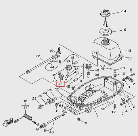 Держатель топливного фильтра для лодочного мотора T5 Sea-PRO (7-41)