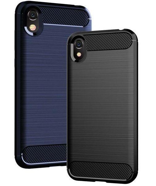 Чехол для Huawei Y5 2019 (Honor 8S) цвет Black (черный), серия Carbon от Caseport