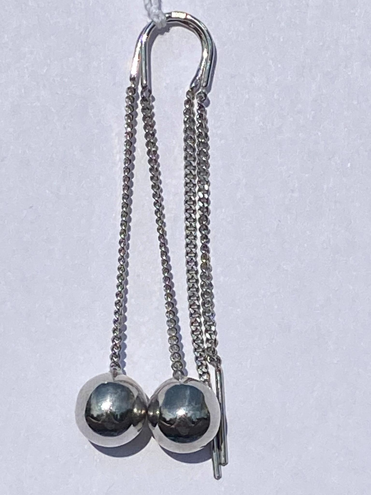 Протяжки с шариком  0,8 (серьги из серебра)