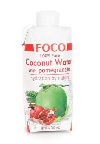 Кокосовая вода с соком граната FOCO   330мл.