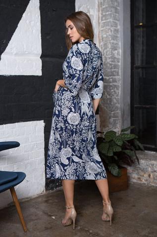 Женский халат  MIA- MIA Ariana Ариана 16339 синий