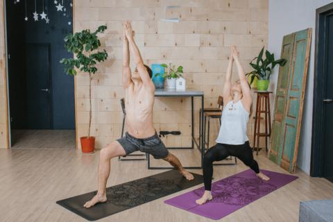 Каучуковый коврик для йоги Mandala с разметкой 185*68*0,4 см