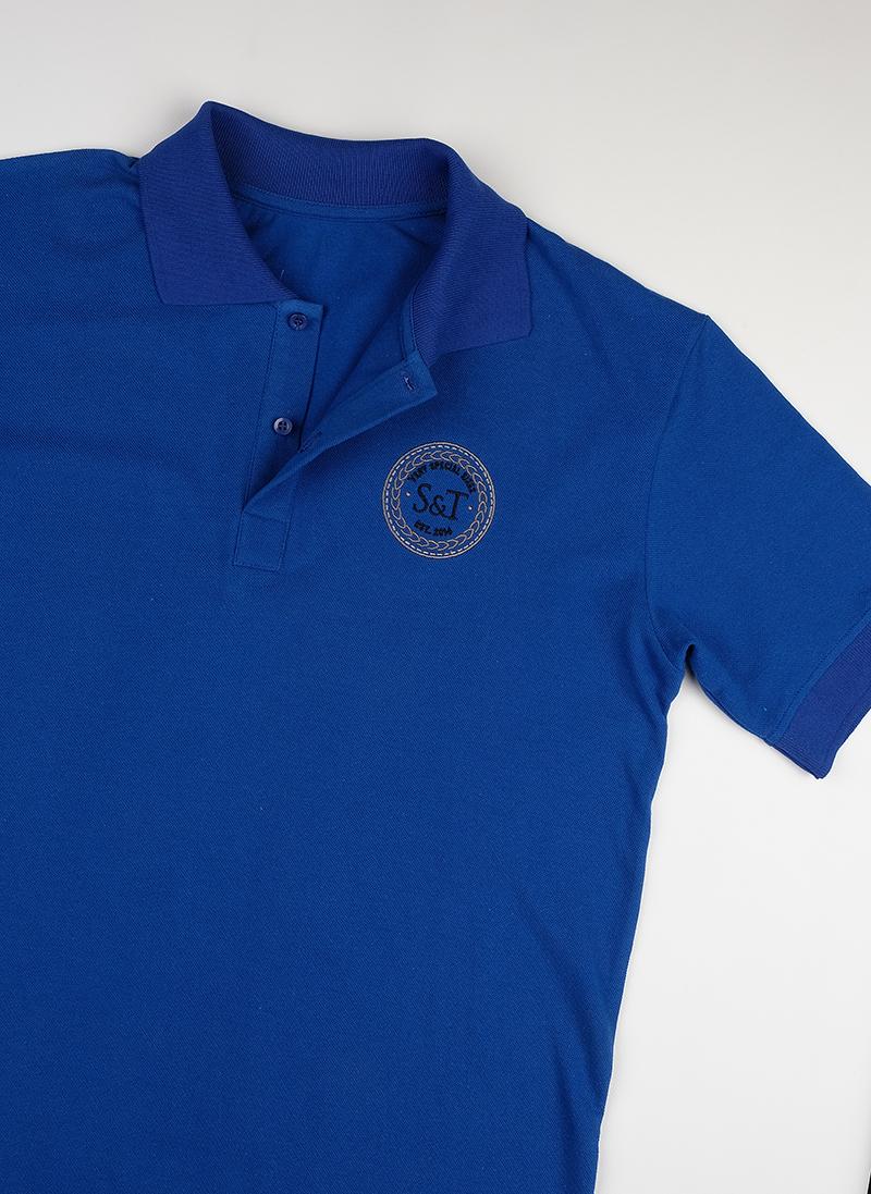 Поло S&T slim fit blue1902