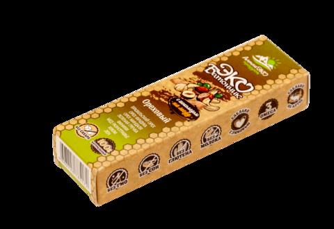 Эко-батончик с шоколадом на меду «Ореховый» без сахара, 45 г