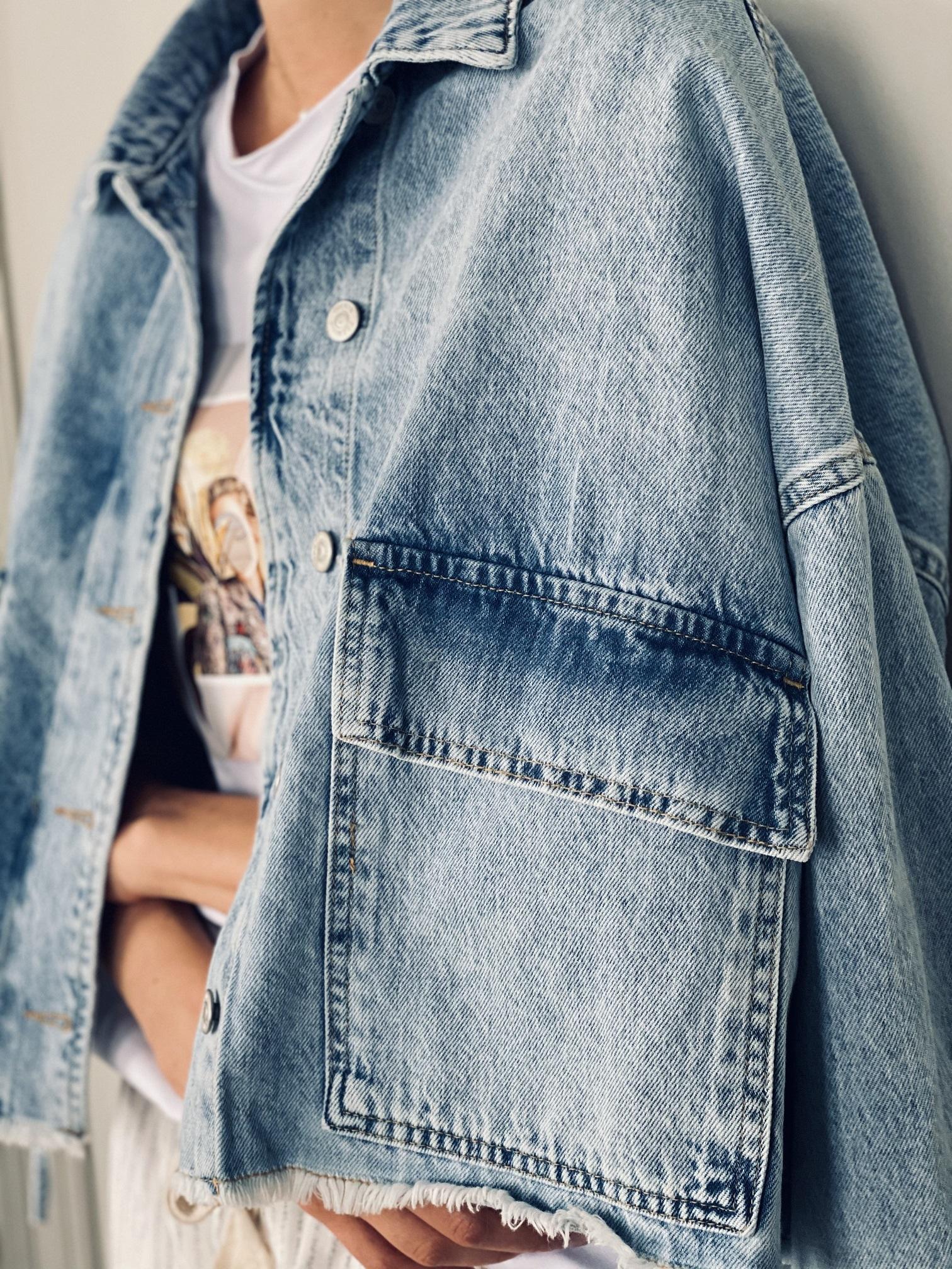 Джинсовая куртка, UNO, Freedom (небесный)