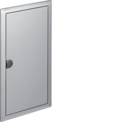 Наружная рамка с дверцей для встраиваемого щитка Volta,3-рядного, нерж.cталь