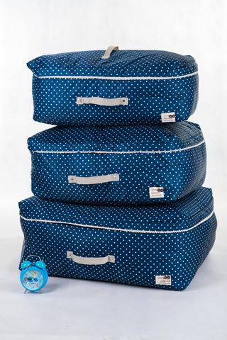 Подарочный набор из 8 предметов (темно-синий в горошек)