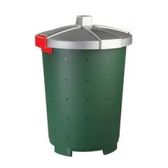 Бак для отходов 45 л пластиковый зеленый