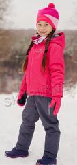 Детский тёплый прогулочный лыжный костюм Nordski Jr-Kids Motion Raspberry