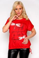 <p>Отличная футболка свободного силуэта, на кулиске по низу изделия. Длина изделия 64см.</p>