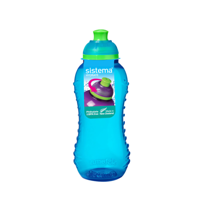 """Бутылка для воды Sistema """"Hydrate"""" 460 мл, цвет Голубой"""